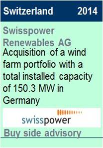 2014 Swisspower Renewables